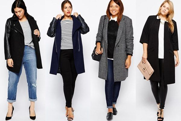 Plus Size 2014 Long Lined Coat by Asos