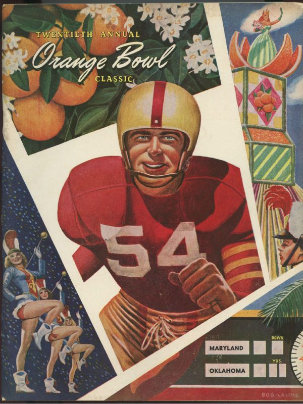 Vintage college football posters favorite