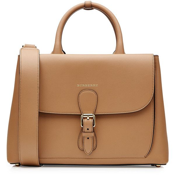 Burberry Shoes & Accessories Leather Tote (216.465 RUB) ❤ liked on Polyvore featuring bags, handbags, tote bags, purses, bolsas, brown, leather tote, leather handbags, leather zip tote and zippered tote