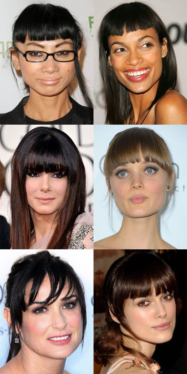 The Best And Worst Bangs For Square Face Shapes The Skincare Edit Square Face Hairstyles Haircuts For Long Hair With Bangs Square Face Short Hair