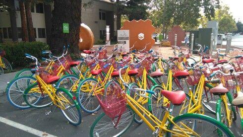 Google bikes at Google, USA