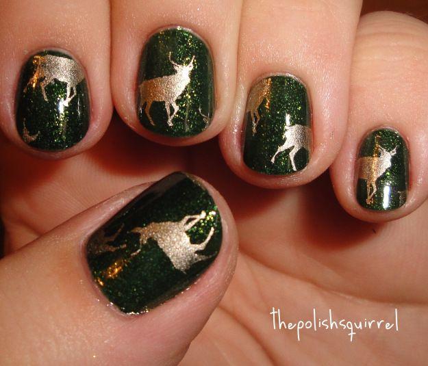 green & gold reindeer (advent calendar day 3)