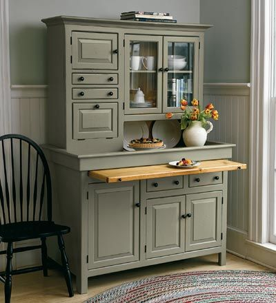 Large Conestoga Cupboard - Plow & Hearth for room above garage- mini kitchen