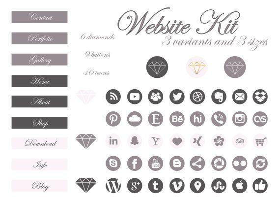 Brand Identity/Brand Kit/Logo/Business by jellyfishfish on Etsy