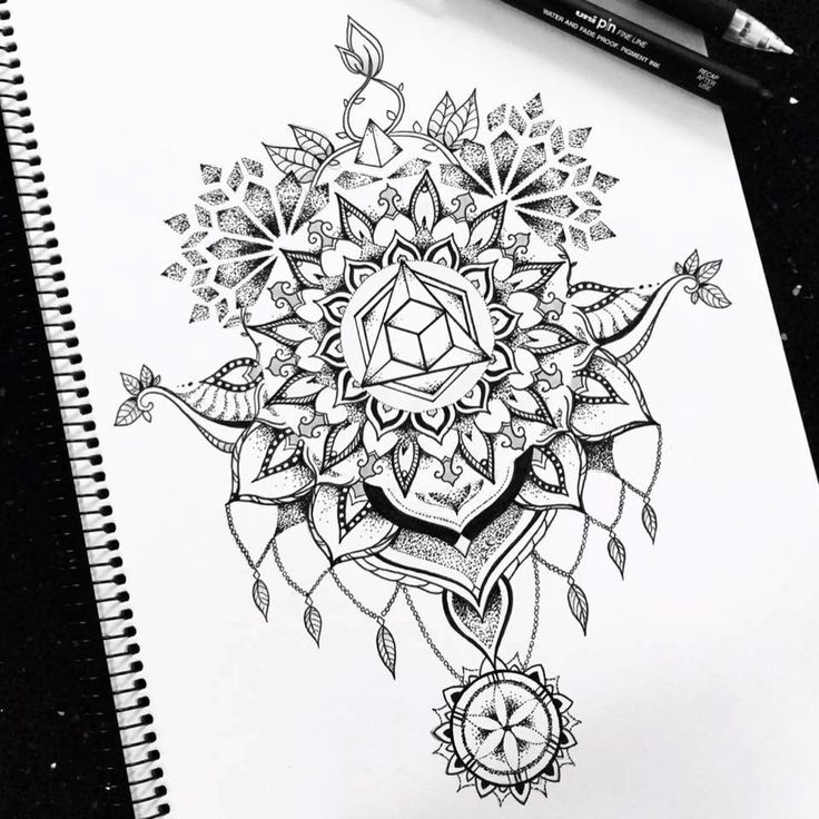 Sacred geometry neck/back tattoo design on Behance