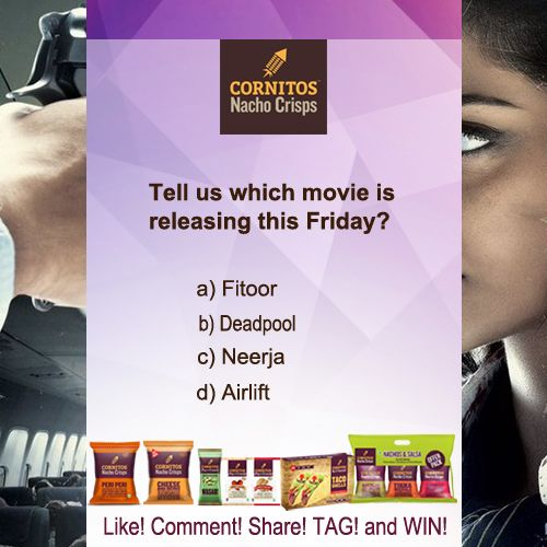 #‎TriviaAlert‬ ‪#‎MovieTrivia‬ Tell us which movie is releasing this Friday?