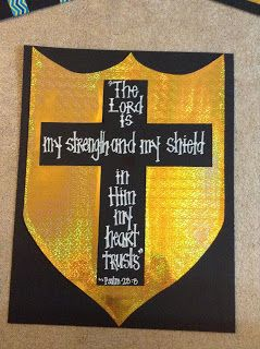 Look to Him and be Radiant: Armor of God Decorations