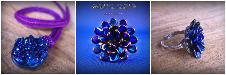 """Cicadella Blue"" set by Faun Noir Jewellery"