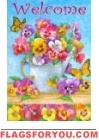 Pansy Watering Can Garden Flag