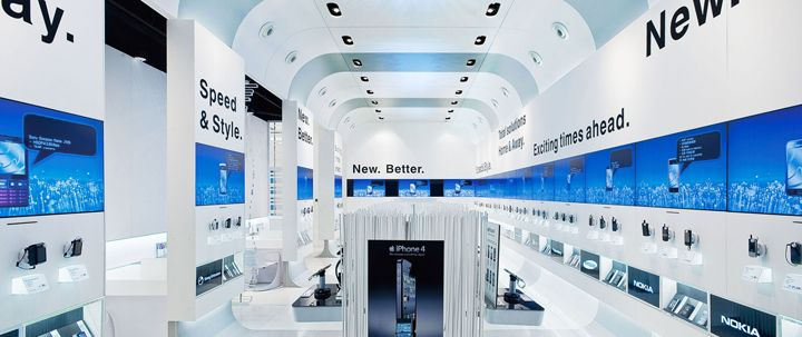 FLAGSHIP STORES! 3 flagship store by ALEXCHOI design & Partners, Hong Kong telecommunication