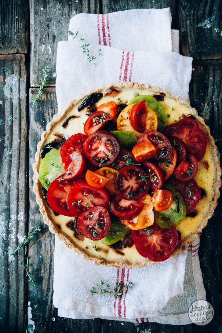 De perfecte quiche met tomaten!