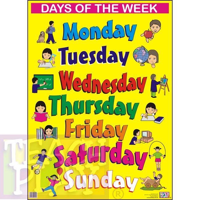 Resultado De Imagen Para Dias De La Semana En Ingles La Semana En Ingles Dias De La Semana Ingles