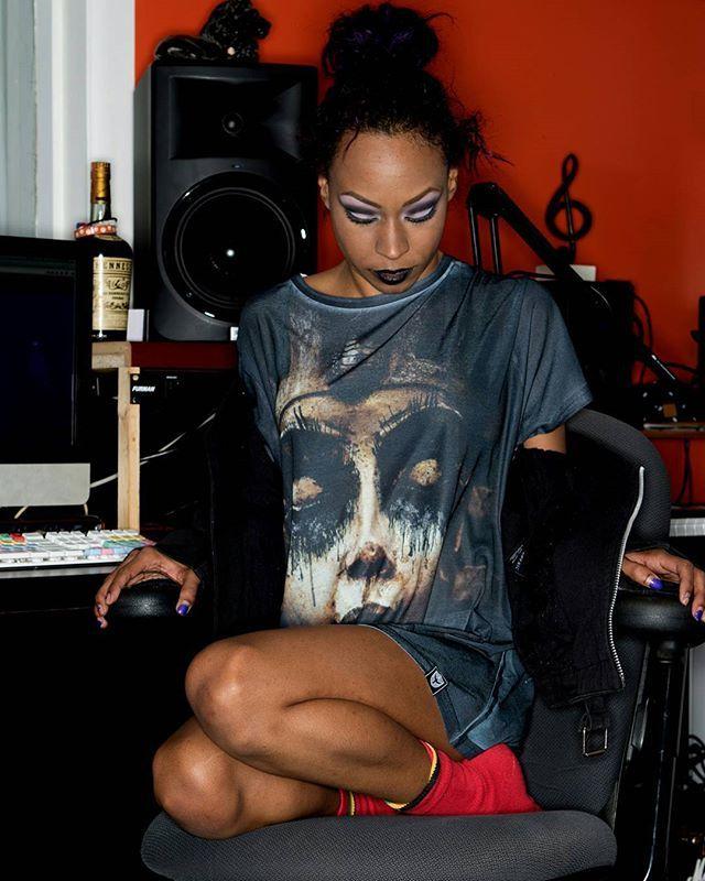 """Damned In Black"" Tee Available at www.crmc-clothing.co.uk | WE SHIP WORLDWIDE Model - Evie Cherrie Louise Photography by J Style #blackmetal #pharaoh #pharaohs #alternative #ancientegypt #fashionstatement #tutankhamun #rock #fashionista #goldandblack #blackmetalgirl #alternativeblackgirl #blackmodel #blackgirlsrock #beautifulblackwomen #cute #need #beautiful #want #darkwear #style #alternativegirl #alternativeteen #alternativeboy #blackwear #ilovewearingblack #iloveblack #love #loveblack"