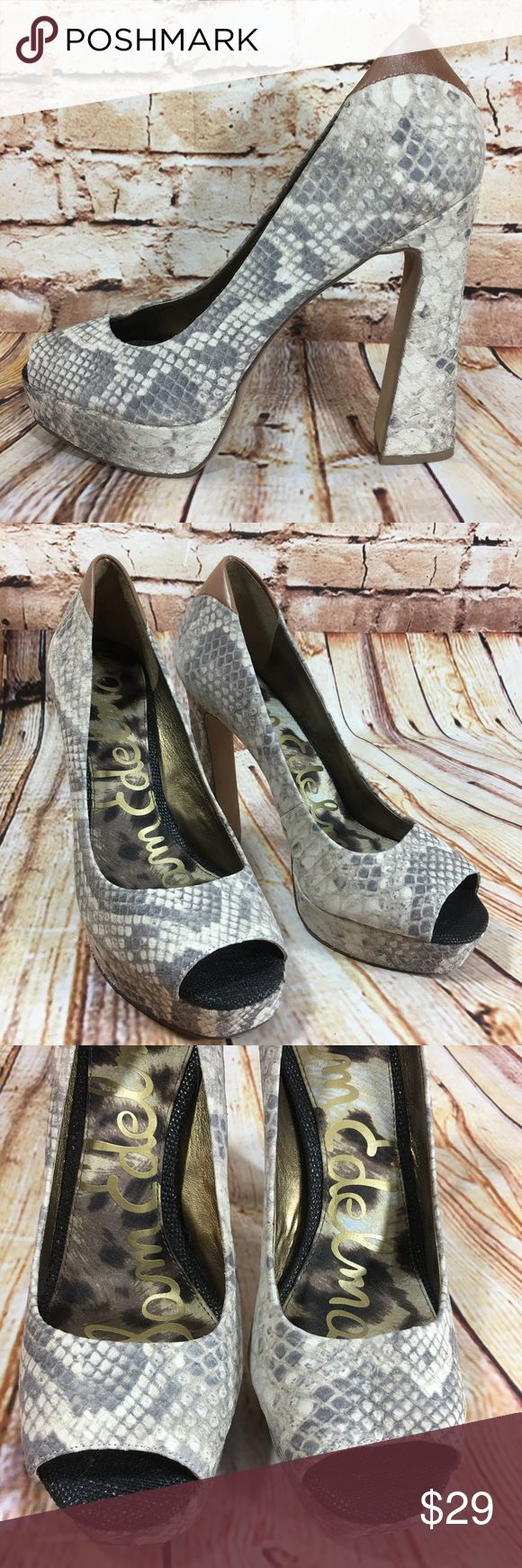 NEW Sam Edelman Tacoma Snake Print Leather Heels Brand new high heeled shoes / pumps. Soft leather snake print. Please see pics for more details on condition (: Sam Edelman Shoes Heels