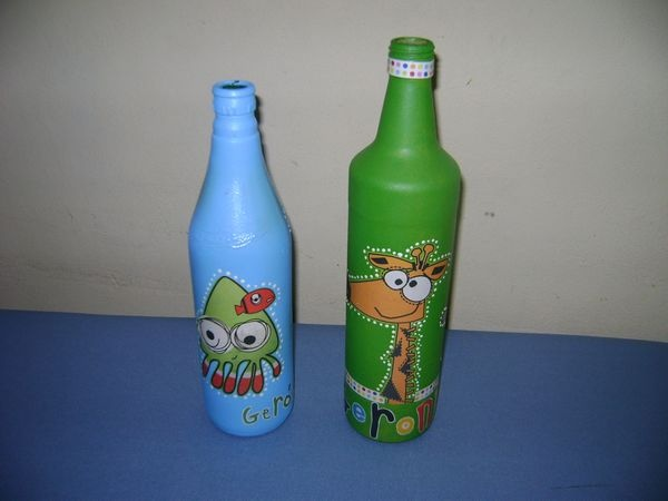 Botellas decorativas, centros de mesa... - SOUVENIRS PARA FIESTAS
