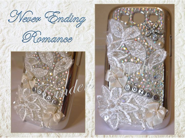 Vintage phone case / bling phone case / by CindersWish on Etsy, £29.00