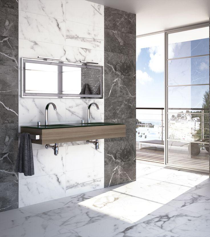 Quarry Blanco 15x30 (wall) + 24x24 (floor) polished