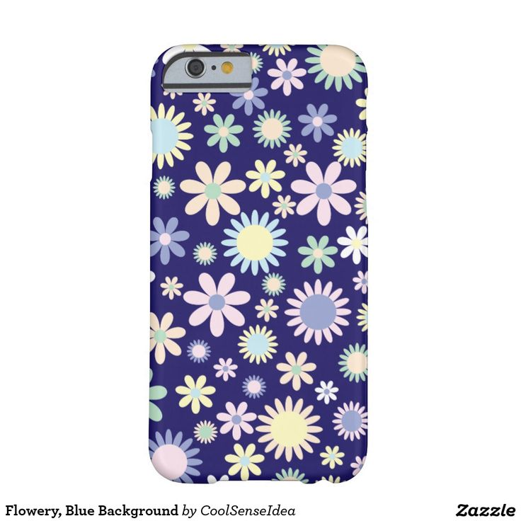 Flowery, Blue Background Barely There iPhone 6 Case