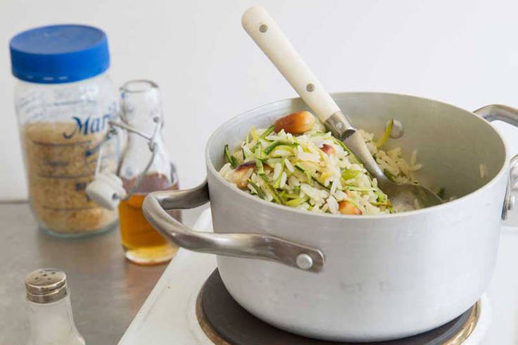 Das Rezept für Zucchini-Reis mit allen nötigen Zutaten und der einfachsten Zubereitung - gesund kochen mit FIT FOR FUN