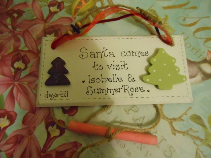 bespoke personalised handmade wooden / mdf plaques - shabby chic - door plaques - christmas