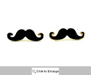 Black Mustache Earrings