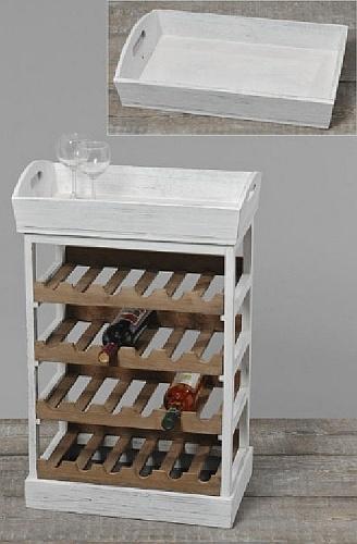Wijnrek Juno, met een los dienblad. Hierin wil toch iedereen zijn wijncollectie in bewaren?