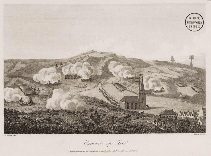 Depiction of the Battle at Egmont-op-Zee, 2 October 1799 (published March 21 1800).
