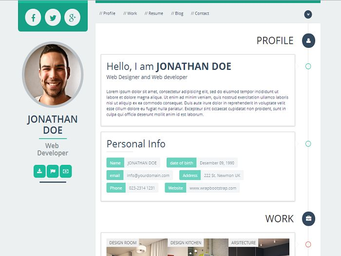 87 best Bootstrap Themes \ Templates images on Pinterest - bootstrap resume template