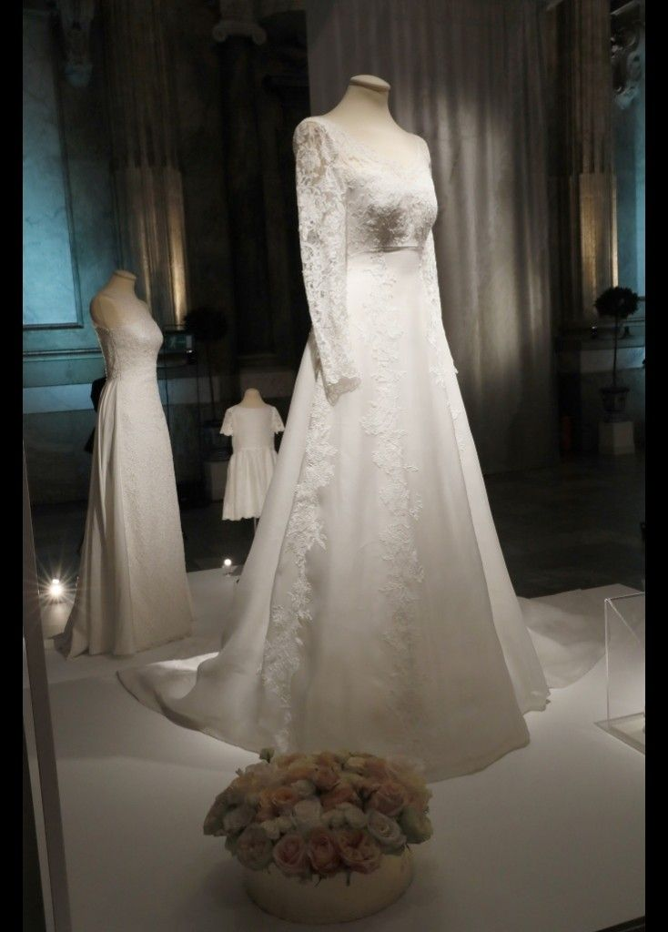Queen Silvia Crown Princess Victoria And Sofia Attended The Royal Wedding Dresses Exhibition At Palace Fashion