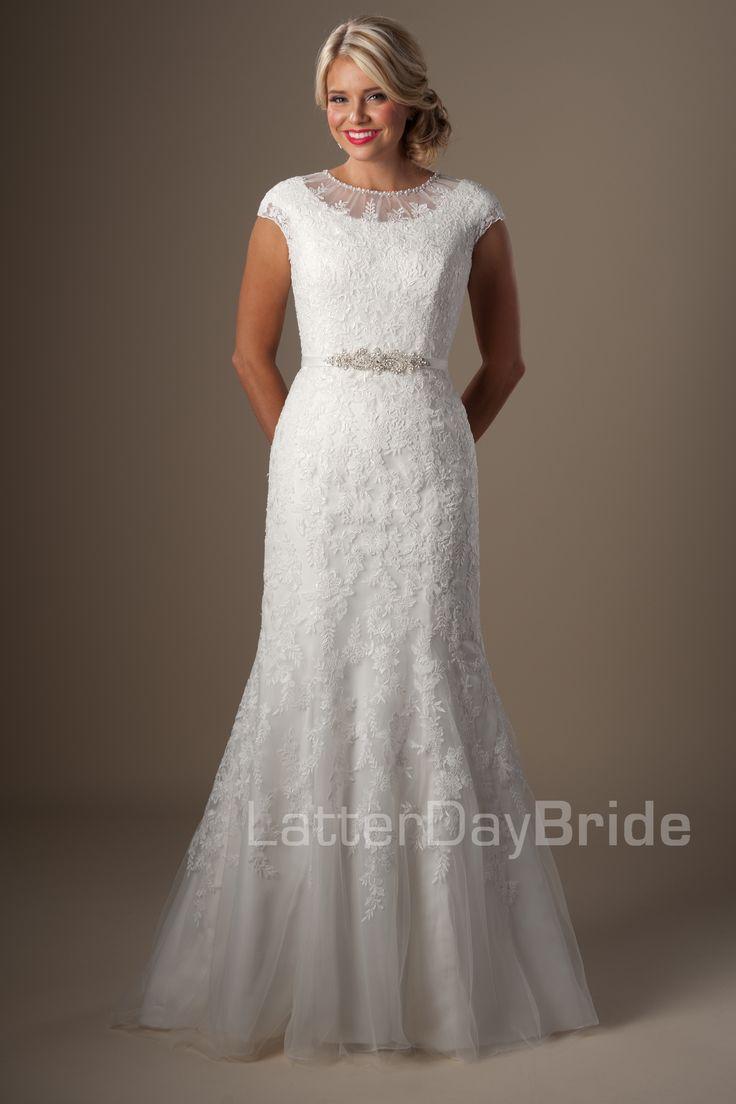 Cheap modest wedding dresses   best Dresses images on Pinterest  Short wedding gowns Wedding