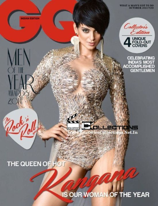 Kangana Ranaut sizzles on the GQ India Magazine October 2014 Cover