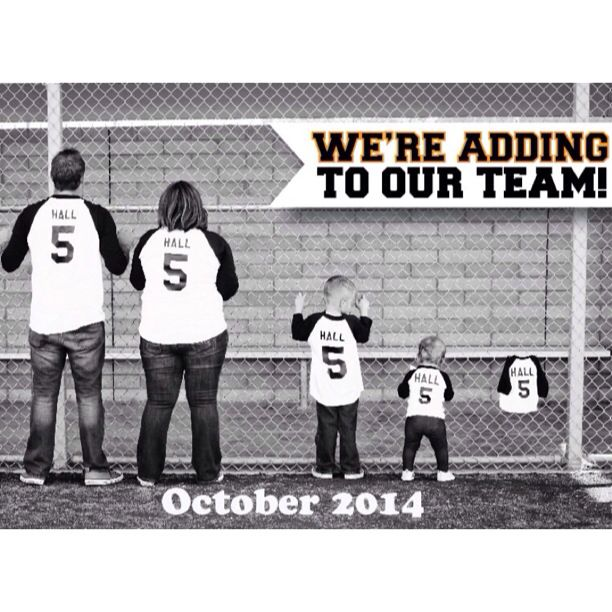 My friend from HS, Kelly and her hubby had this adorable pregnancy announcement! So excited and happy for the Halls!