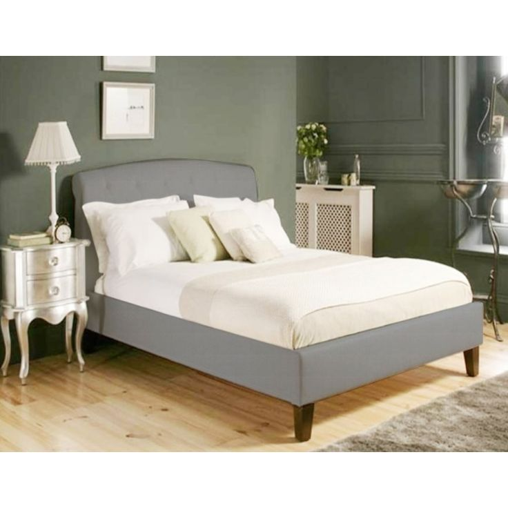 mono lisa ii wooden king bed frame in grey fabric buy king size bed frame