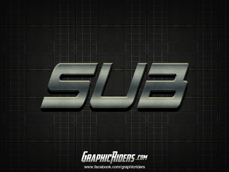 Action style – SUB (free photoshop layer style, text effect) #graphicriders