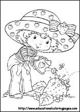 strawberry shortcake cartoon coloring pages bing images - Colouring In Stencils