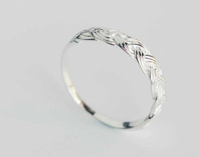 Personality weaving ring, 925 Sterling Silver ring