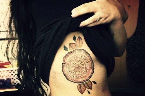 Tree tattoo -18 tree rings.    Way Cool Tattoos Oakville, Ontario.