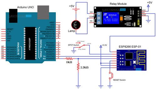 Using ESP8266 and MIT App Inventor to control a Relay