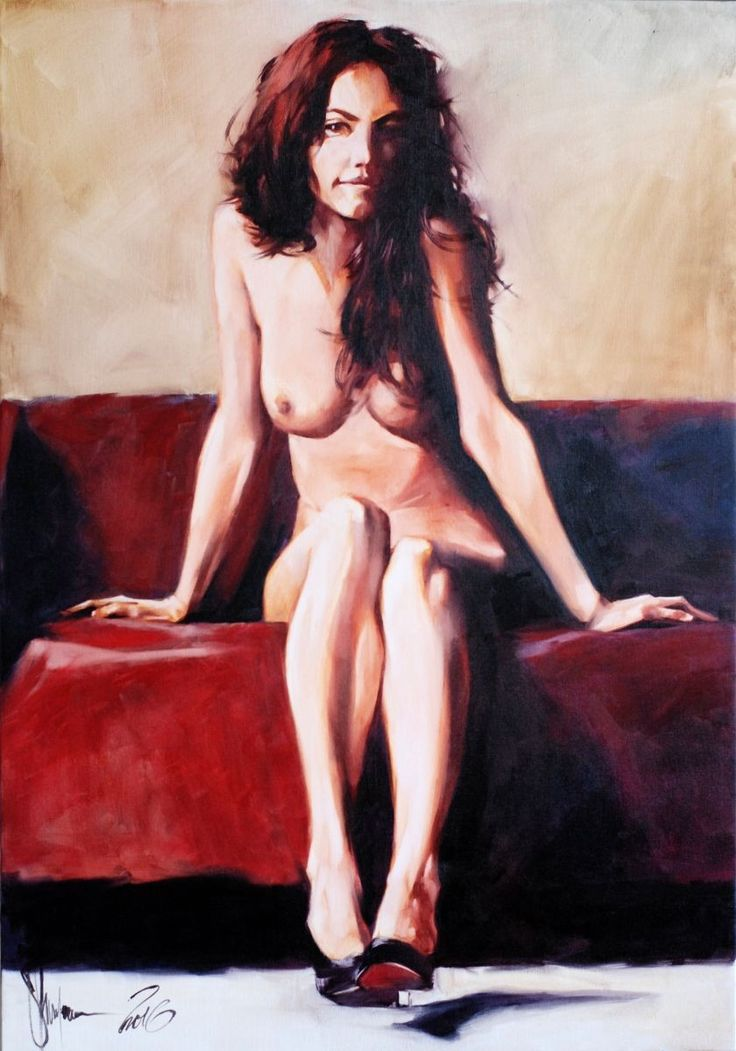 long time I don't paint naked girls. And now I decide to fix it:))