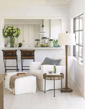 White and clean yet with a hint of rustic