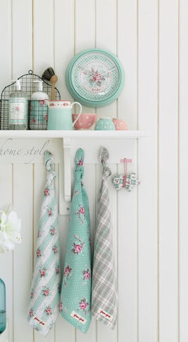 Dish Towels - Kath Kidston (im assuming) - nice colour