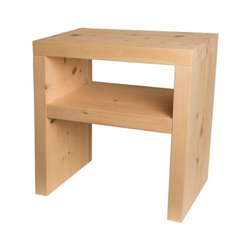 Comodino cirmolo u legno massello cirmolo