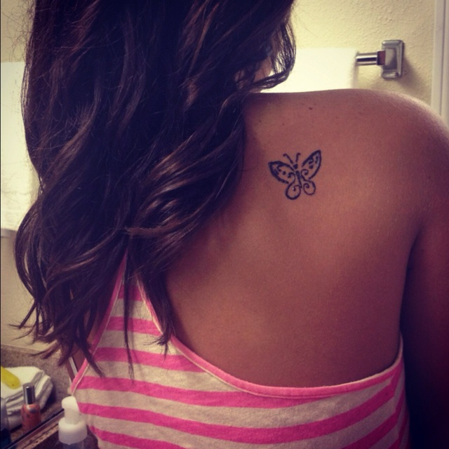 Butterfly tattoo!