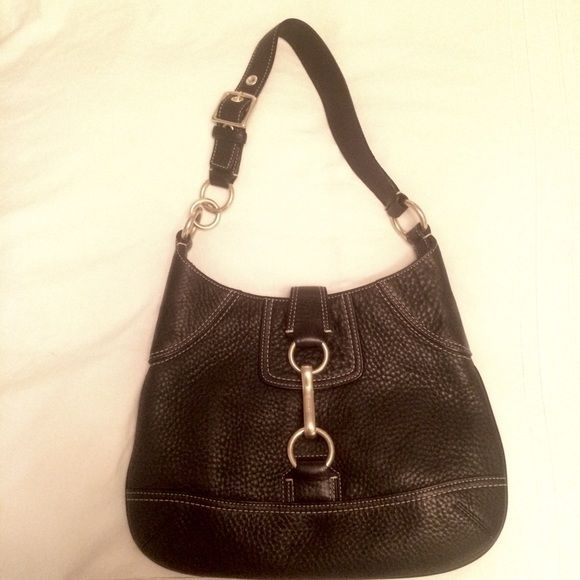 100% Authentic Coach Leather Handbag Shoulder handbag by Coach. Condition may as well be brand new!  Gorgeous quality leather. Logo embossed hardware. Very functional and good-looking handbag. Coach Bags Shoulder Bags