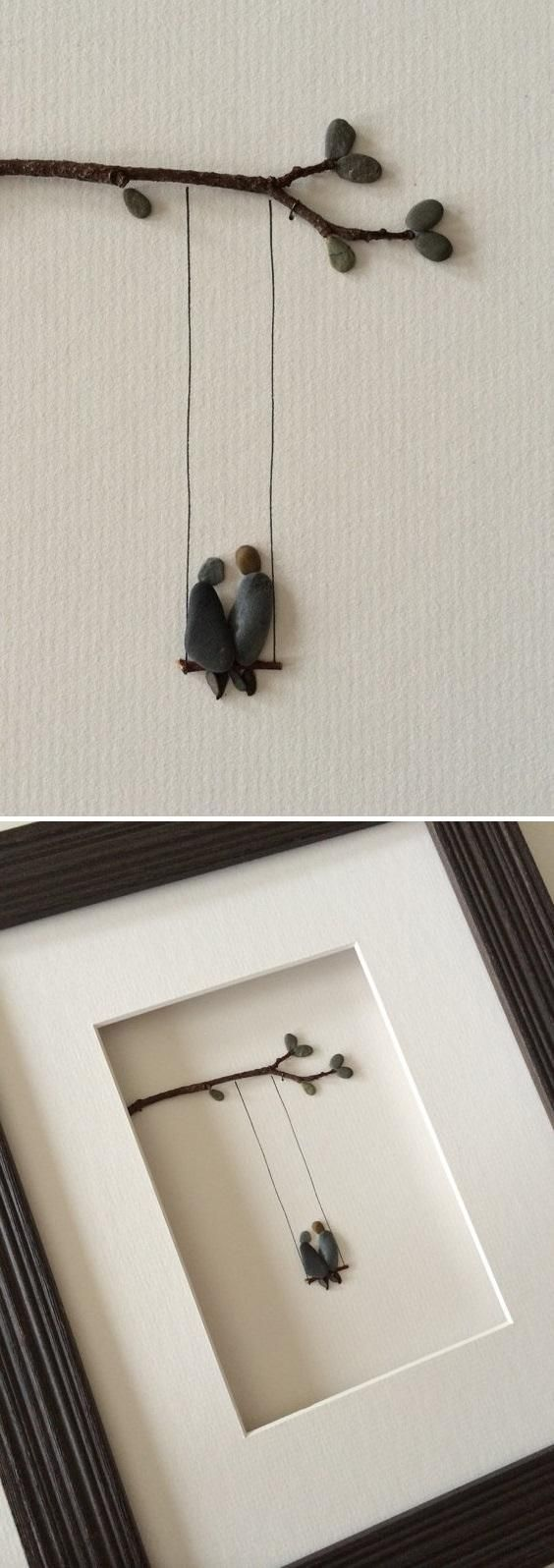 Love the idea for DIY Pebble Art @istandarddesign
