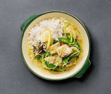 Recept: Fiskgryta på torsk med kokos och curry