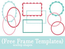free frame templates. great for the address block of envelopes. Can't wait to try!