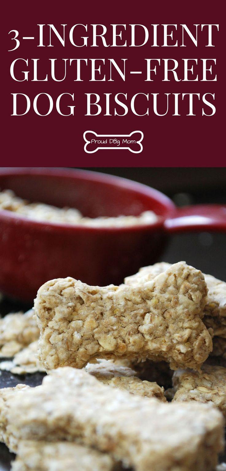 3-Ingredient Gluten-Free Dog Biscuit Recipe   DIY Dog Treats   Homemade Dog Treats  