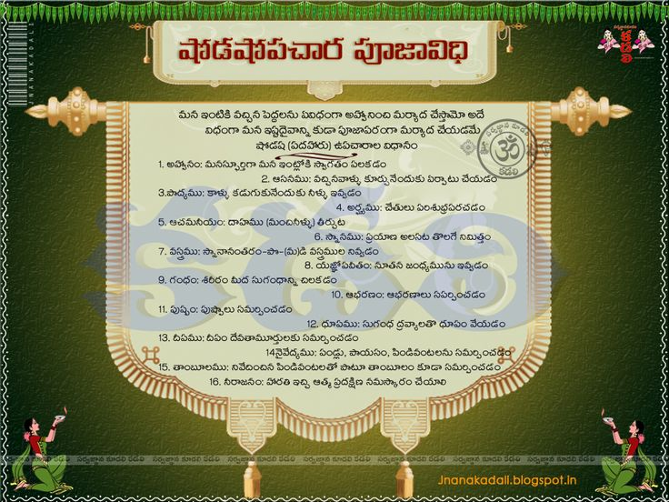 shodashopachara pooja vidhanam షోడశోపచర పూజా విధానం