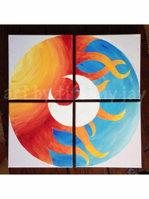 25 beautiful multiple canvas paintings ideas on pinterest for Multi canvas art diy